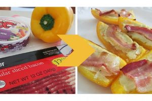 Bell Pepper, Cheese, and Bacon – Oh My!