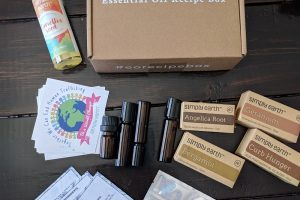 Simply Earth Essential Oil Recipe Box Opening